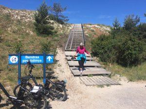 Treppe und Sonja