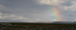 Regenbogen am Slettnes Fyr